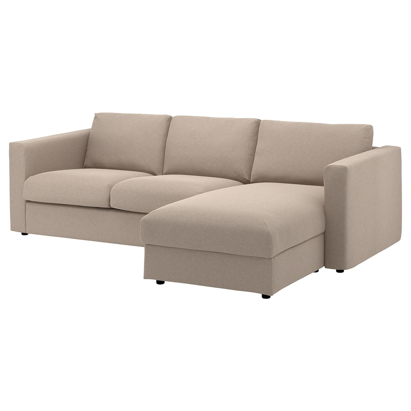 Ikea Bettwäsche Beige Vimle 3 Seat Sofa With Chaise Longue Tallmyra Beige Ikea