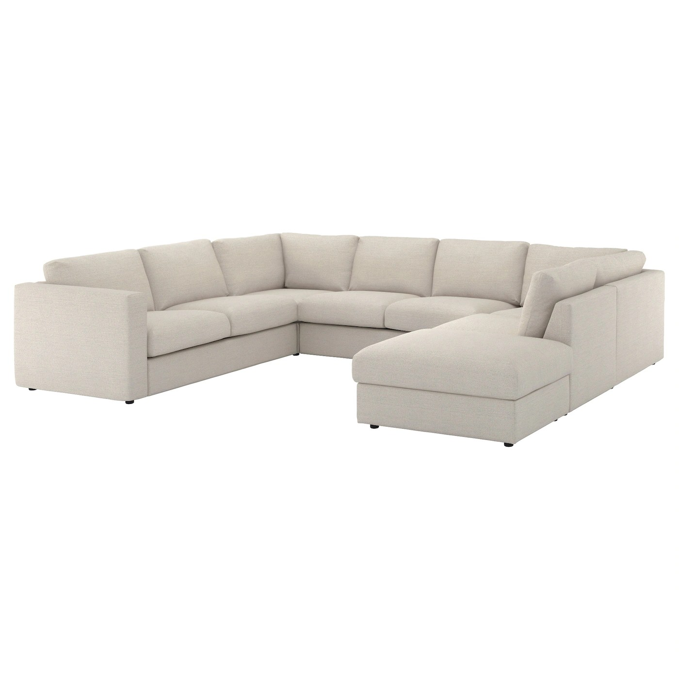 U Form Sofa Ikea Vimle U Shaped Sofa 6 Seat With Open End Gunnared Beige
