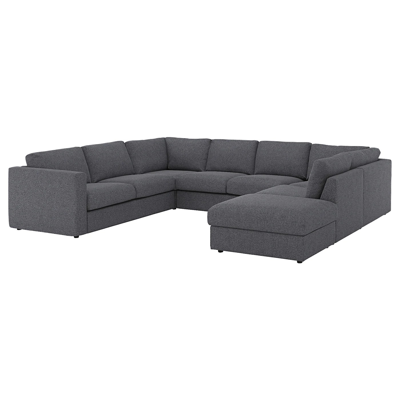 U Sofa Vimle U Shaped Sofa 6 Seat With Open End Gunnared Medium Grey