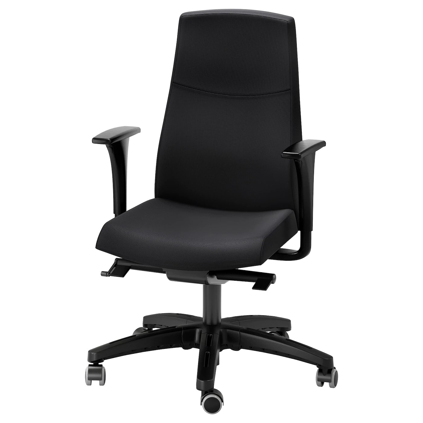Ikea Black Chair Volmar Swivel Chair With Armrests Black Ikea