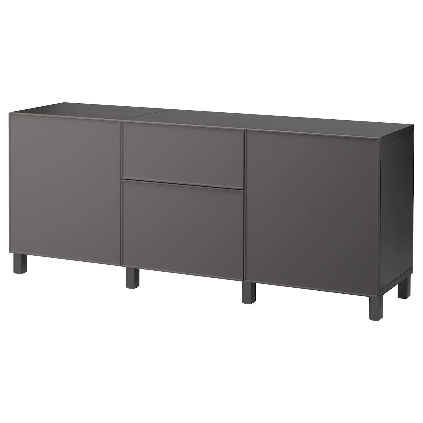 Ikea Kommode 60 X 120 BestÅ Storage Combination With Drawers Black Brown Grundsviken Dark Grey