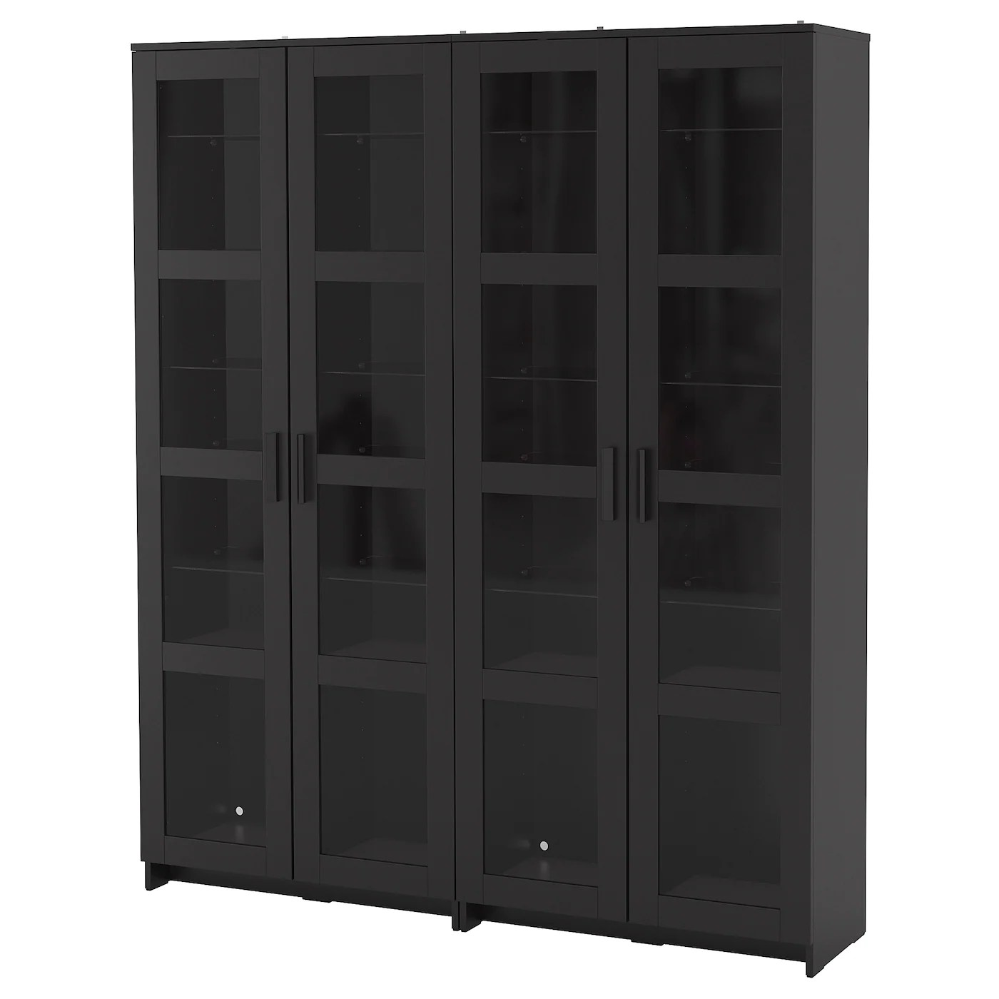 Ikea Brimnes Vitrine Brimnes Storage Combination W Glass Doors Black