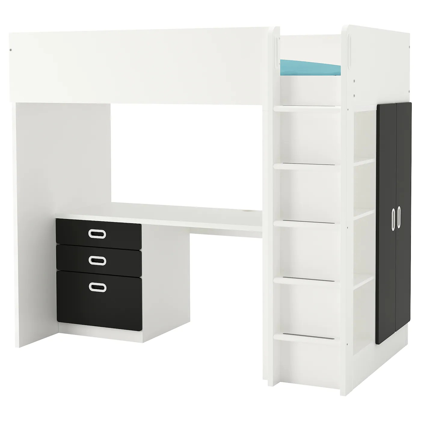 Desk And Bed Combo Fritids Stuva Loft Bed Combo W 3 Drawers 2 Doors White Blackboard Surface