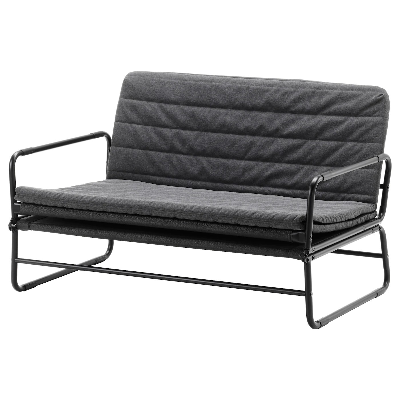 Ikea Bettbank Hammarn Sofa Bed Knisa Dark Grey Black 120 Cm Ikea