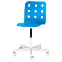 JULES Children's desk chair Blue/white - IKEA