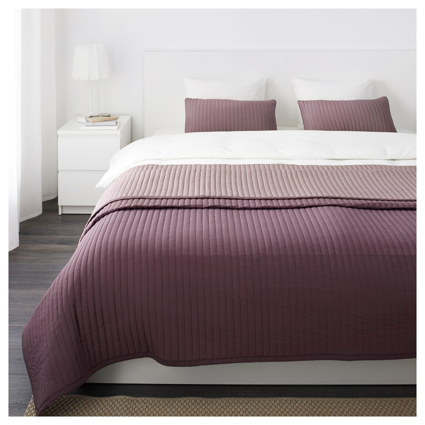 Couvre Lit Ikea Karit Bedspread And 2 Cushion Covers Lilac 260x280 40x65