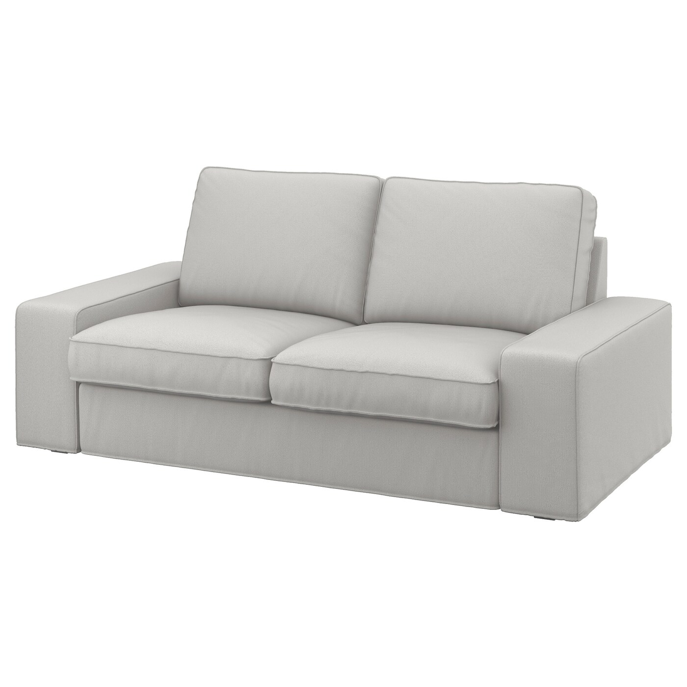 2 Seater Ikea Sofa Cover Kivik Two Seat Sofa Ramna Light Grey