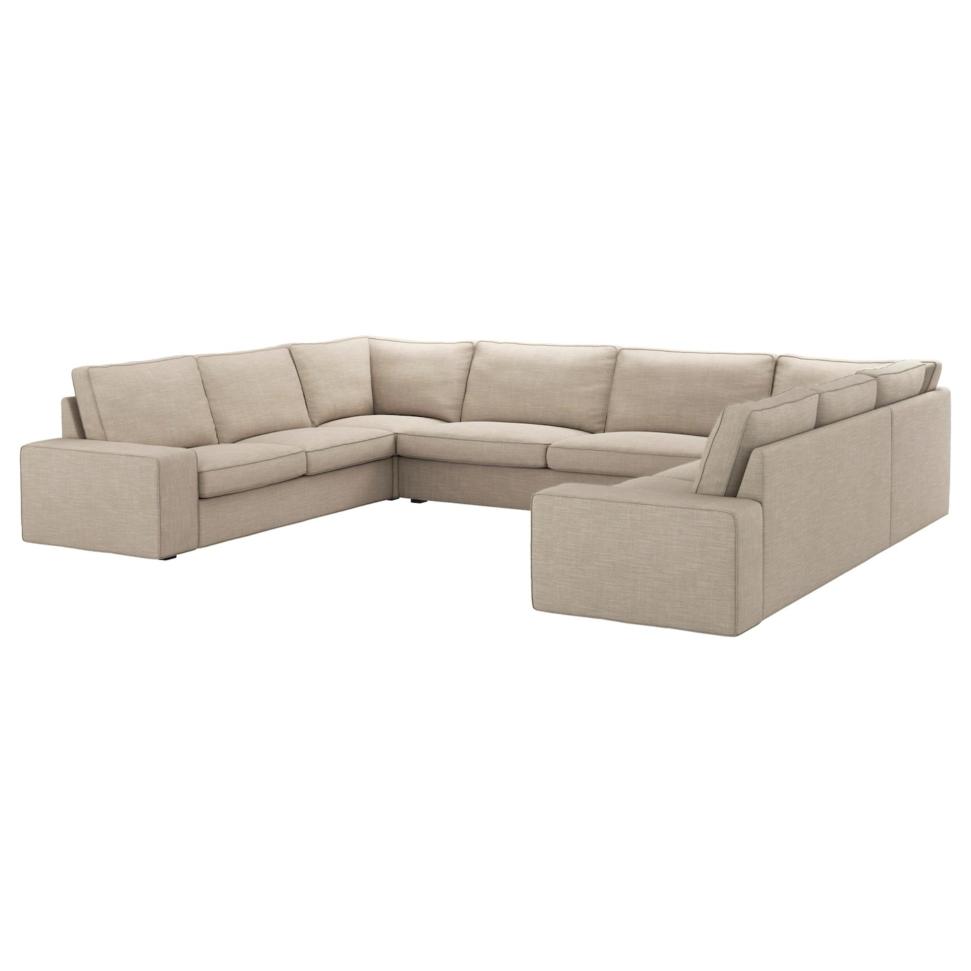 U Sofa Kivik U Shaped Sofa 7 Seat Hillared Beige