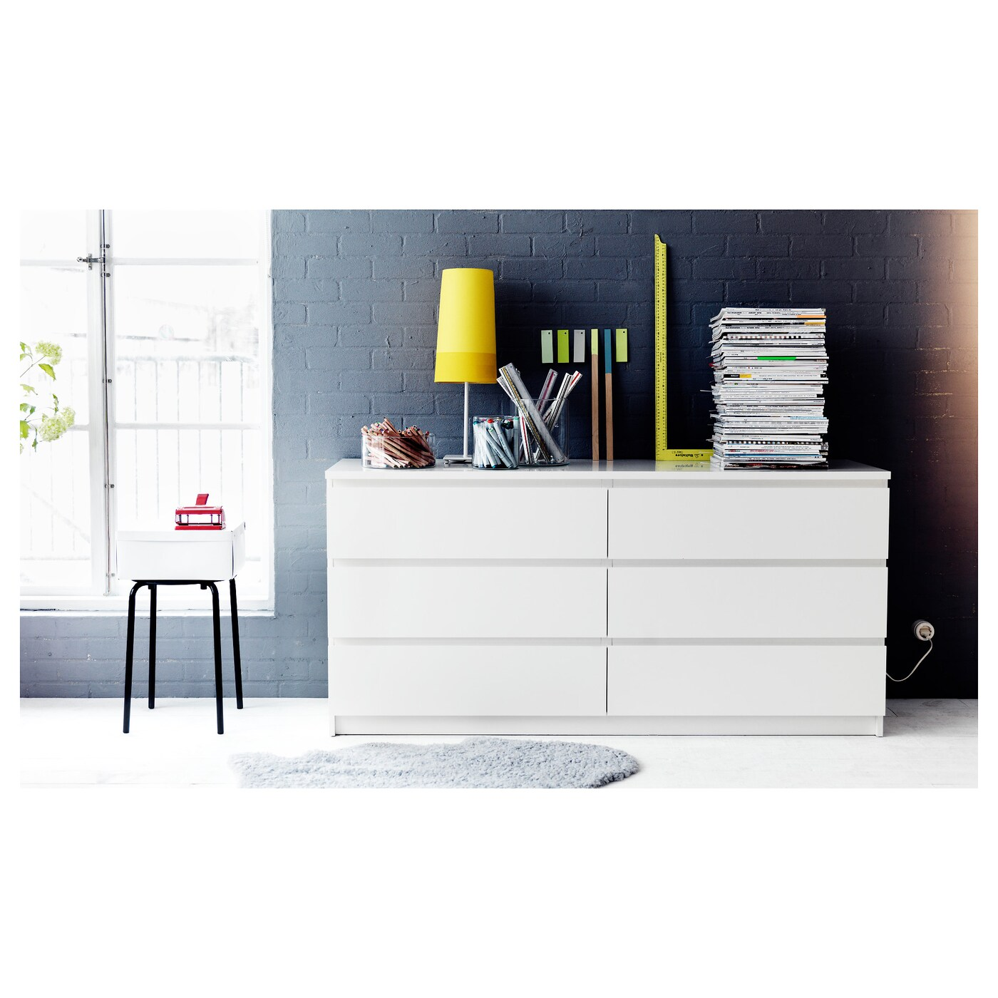 Ikea Armoire Malm Malm Chest Of 6 Drawers White 160 X 78 Cm Ikea