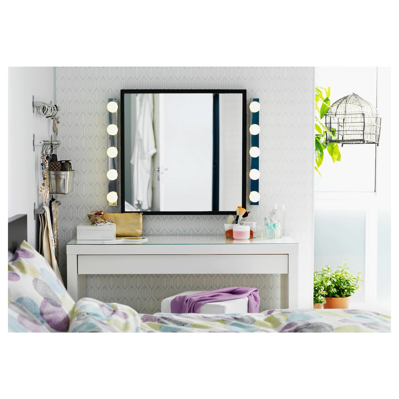 Ikéa Dressing Malm Dressing Table White 120 X 41 Cm Ikea