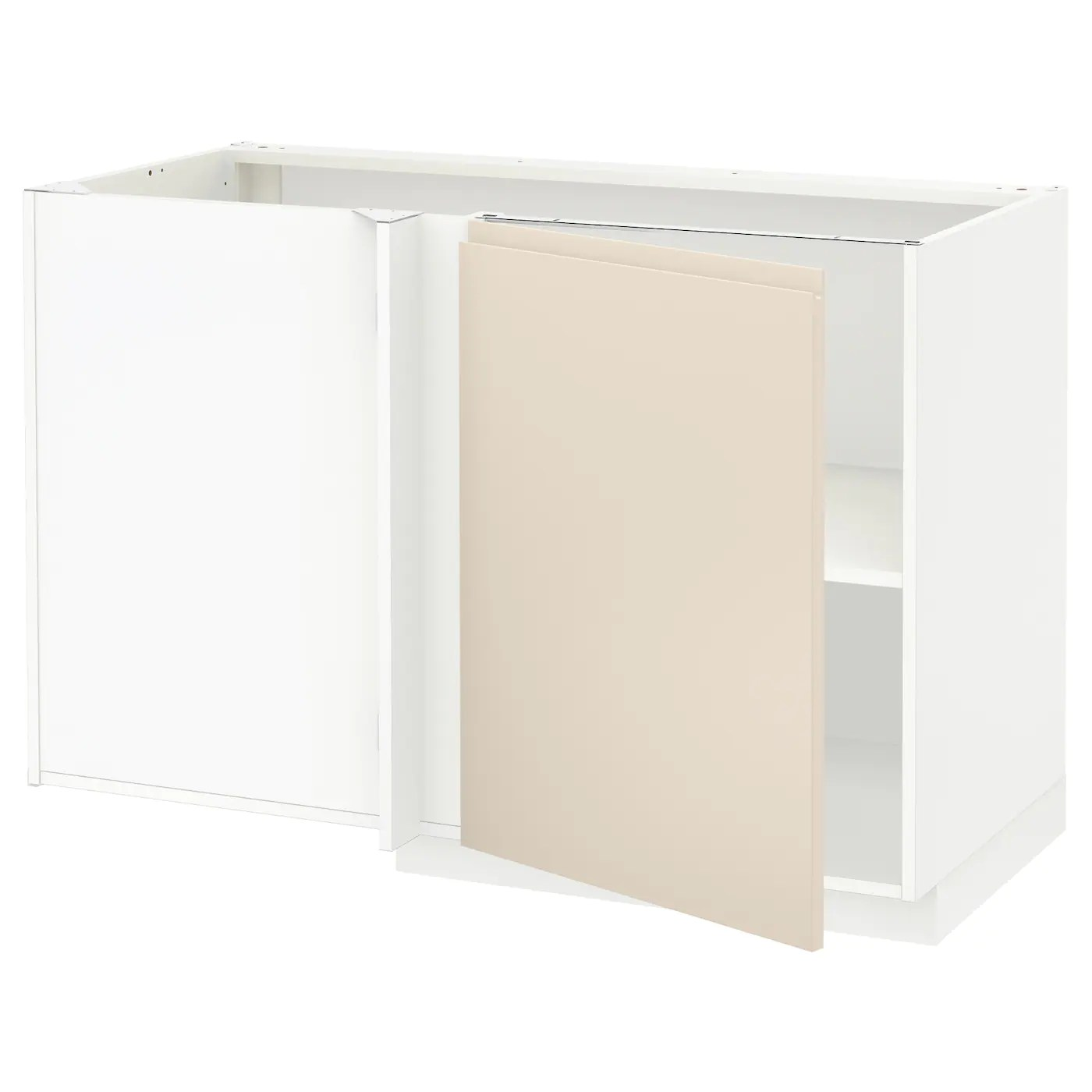 Ikea Küche Voxtorp Beige Metod Corner Base Cabinet With Shelf White Voxtorp Light
