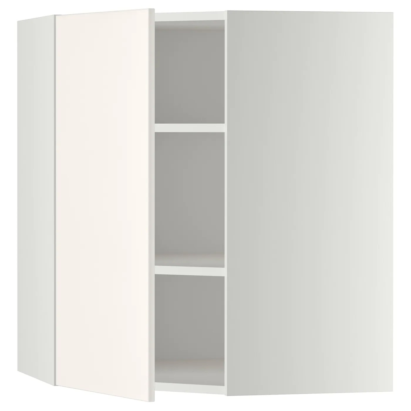 Ikea Küchenschrank Veddinge Metod Corner Wall Cabinet With Shelves White Veddinge