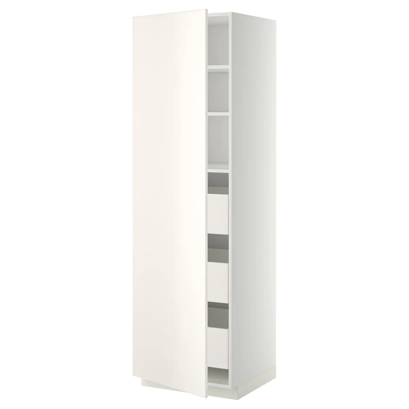 Ikea Metod Pdf Metod Maximera High Cabinet With Drawers White Veddinge White
