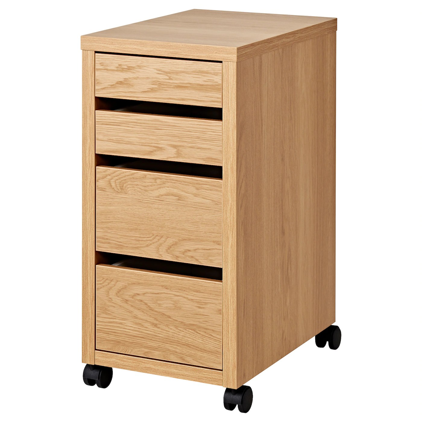 Drawer Units Micke Drawer Unit On Castors Oak Effect 35 X 75 Cm Ikea