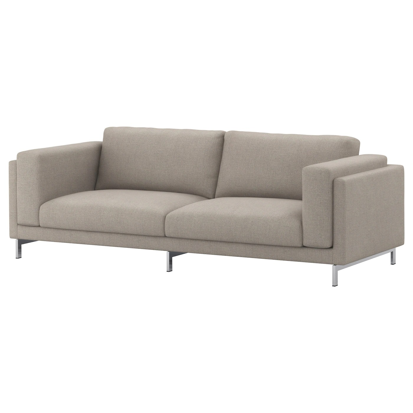 Ikea Nockeby Sofa Nockeby Legs For 3-seat Sofa Chrome-plated - Ikea