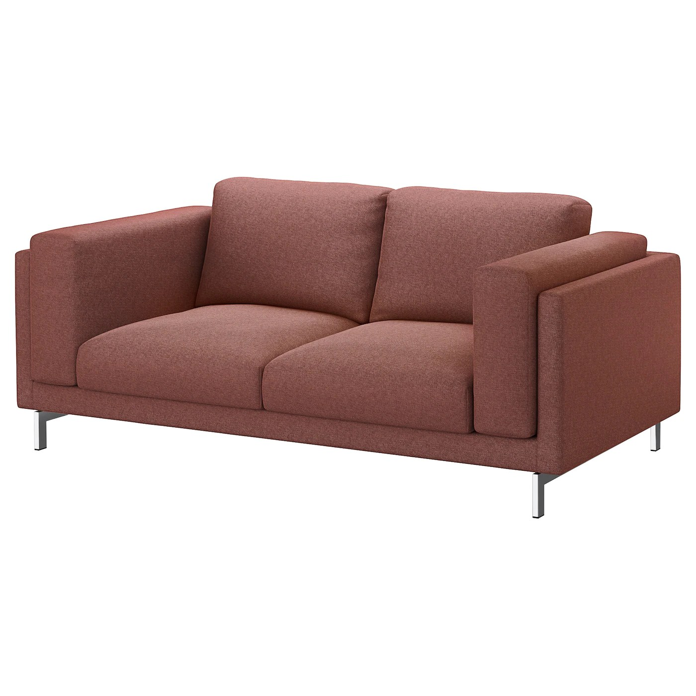 Ikea Nockeby Two Seat Sofa Nockeby Two Seat Sofa Tallmyra Rust Chrome Plated Ikea