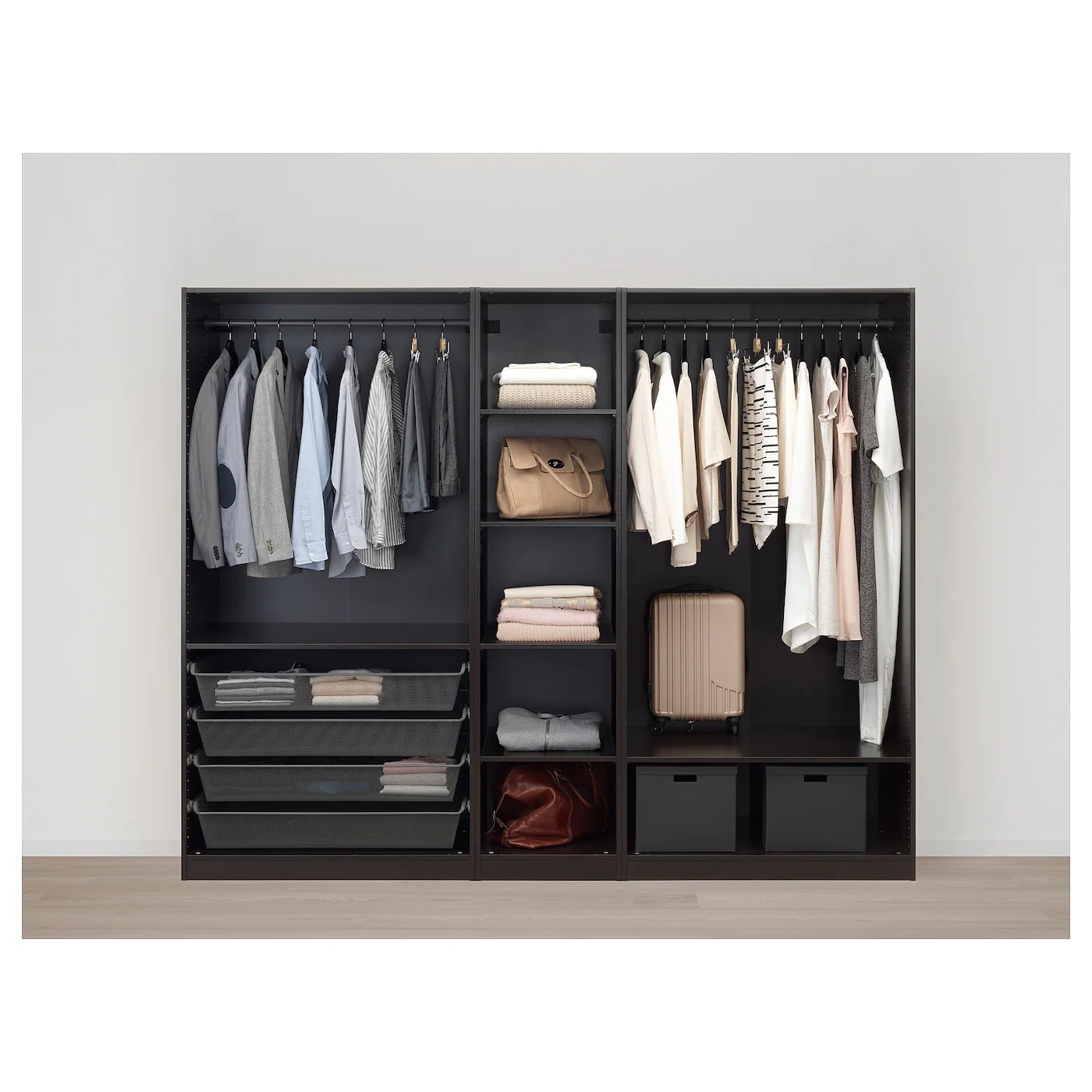 Ikea Paxkasten Pax Wardrobe Black Brown Forsand Black Brown Stained Ash Effect