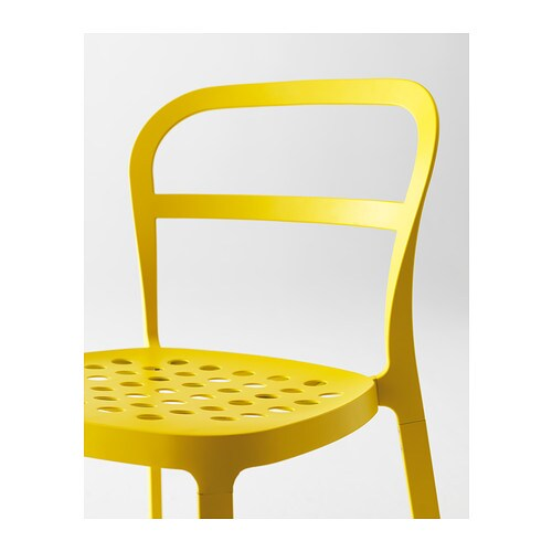 Ikea Yellow Chair Ikea Reidar Chair, In/outdoor The Holes In The Seat Drain