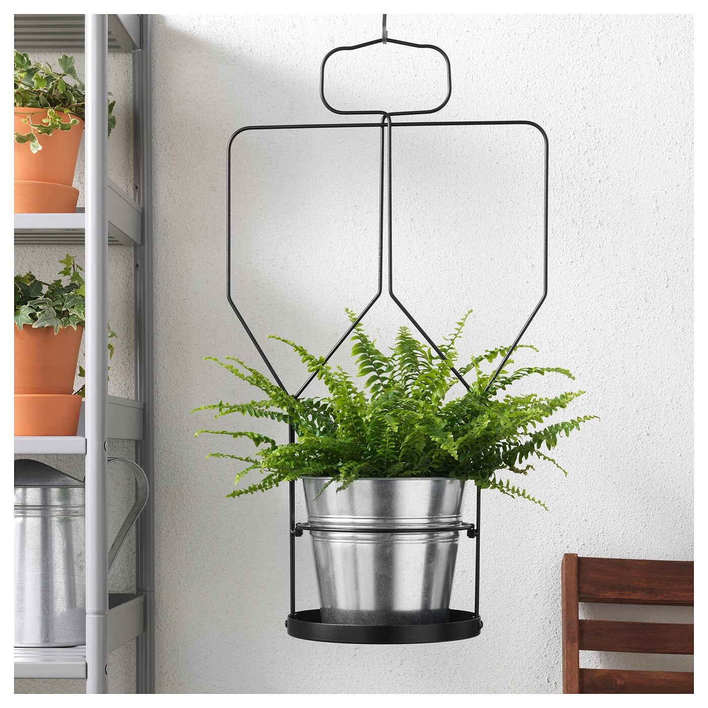 Hangplant Ikea Sommar 2018 Plant Pot Hanger With Trellis In Outdoor Black
