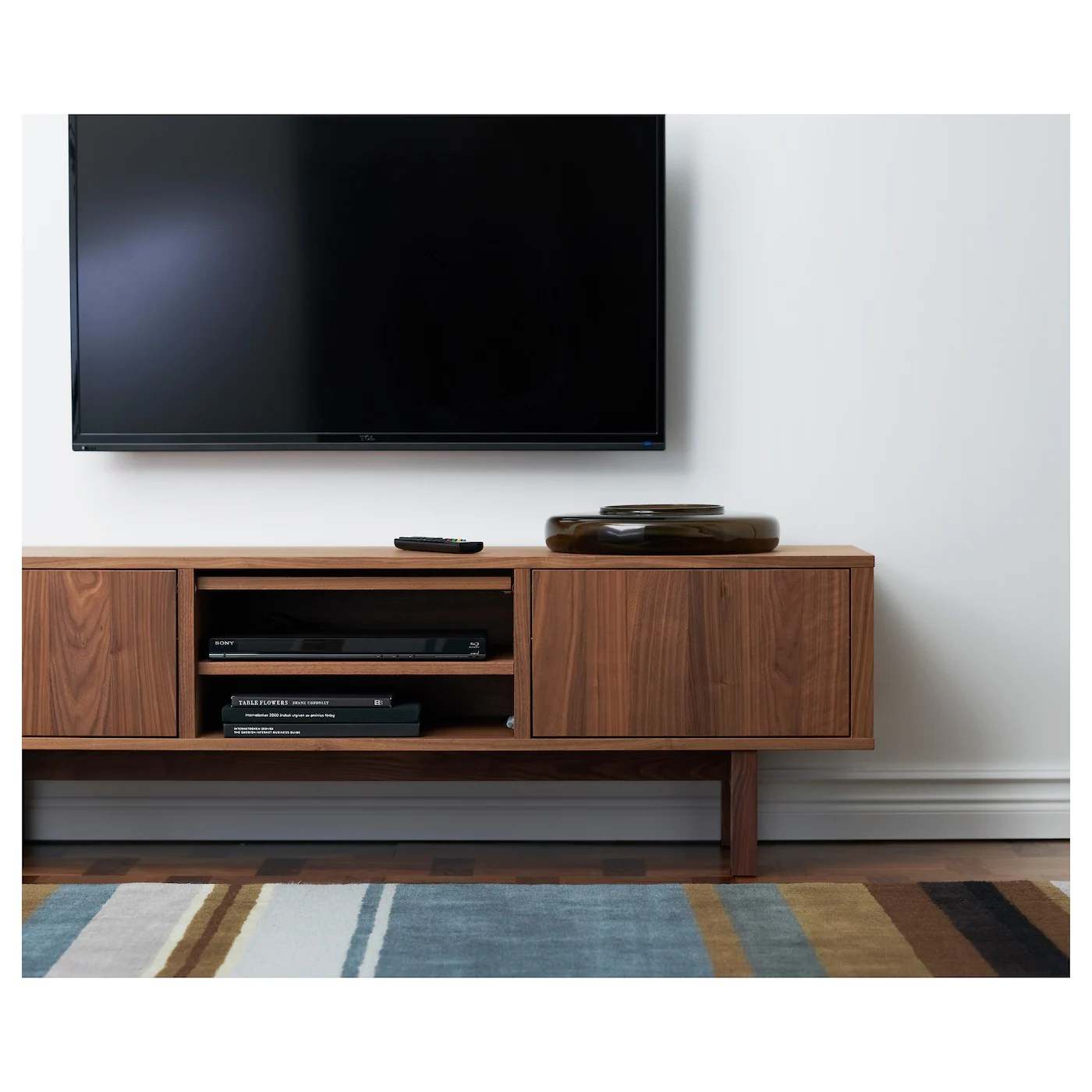 Tv Unit Canada Stockholm Tv Bench Walnut Veneer 160 X 40 X 50 Cm Ikea
