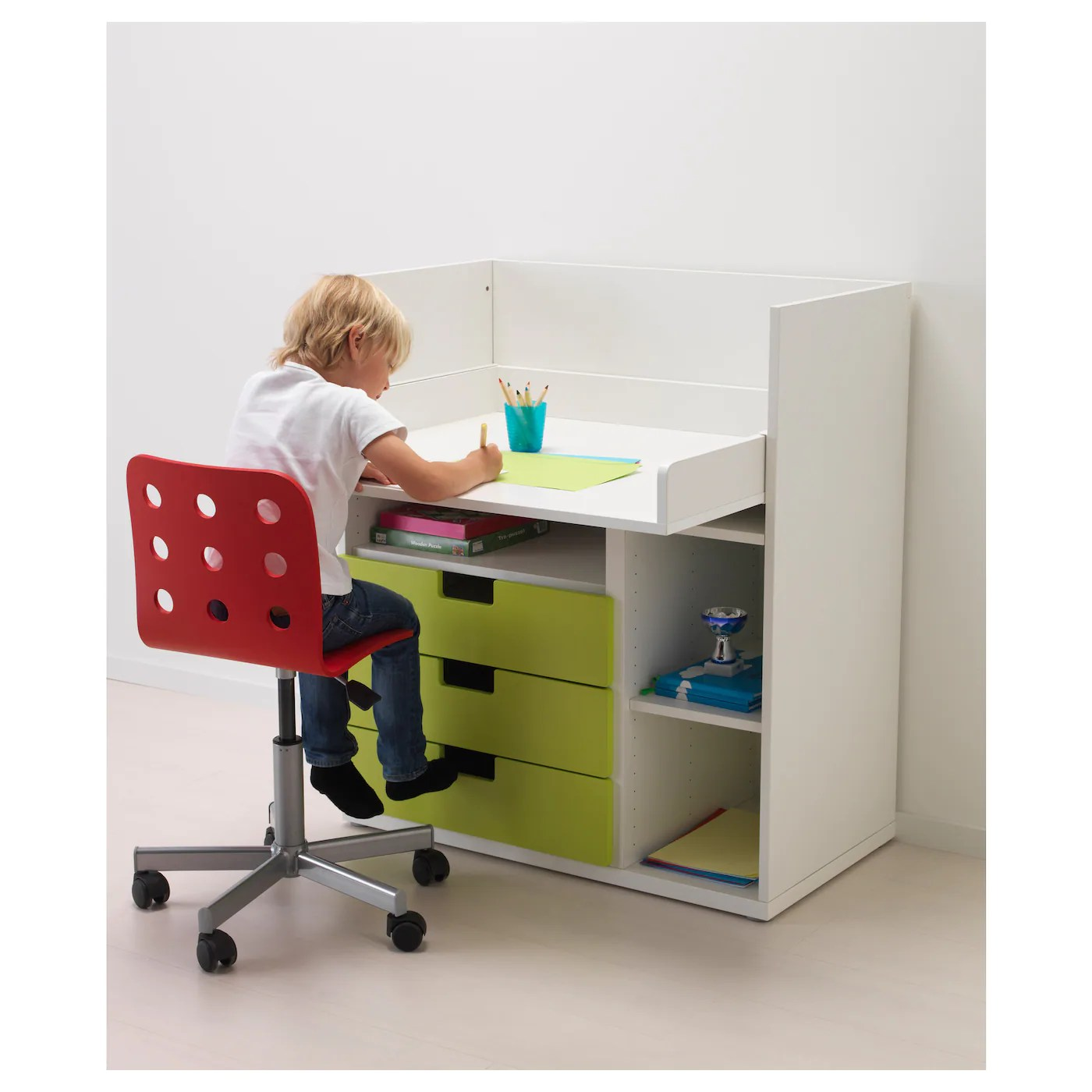 Bureauikea Stuva Changing Table Desk White Ikea