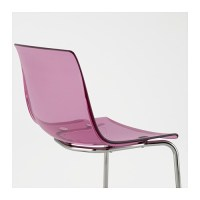 TOBIAS Chair Lilac/chrome-plated - IKEA