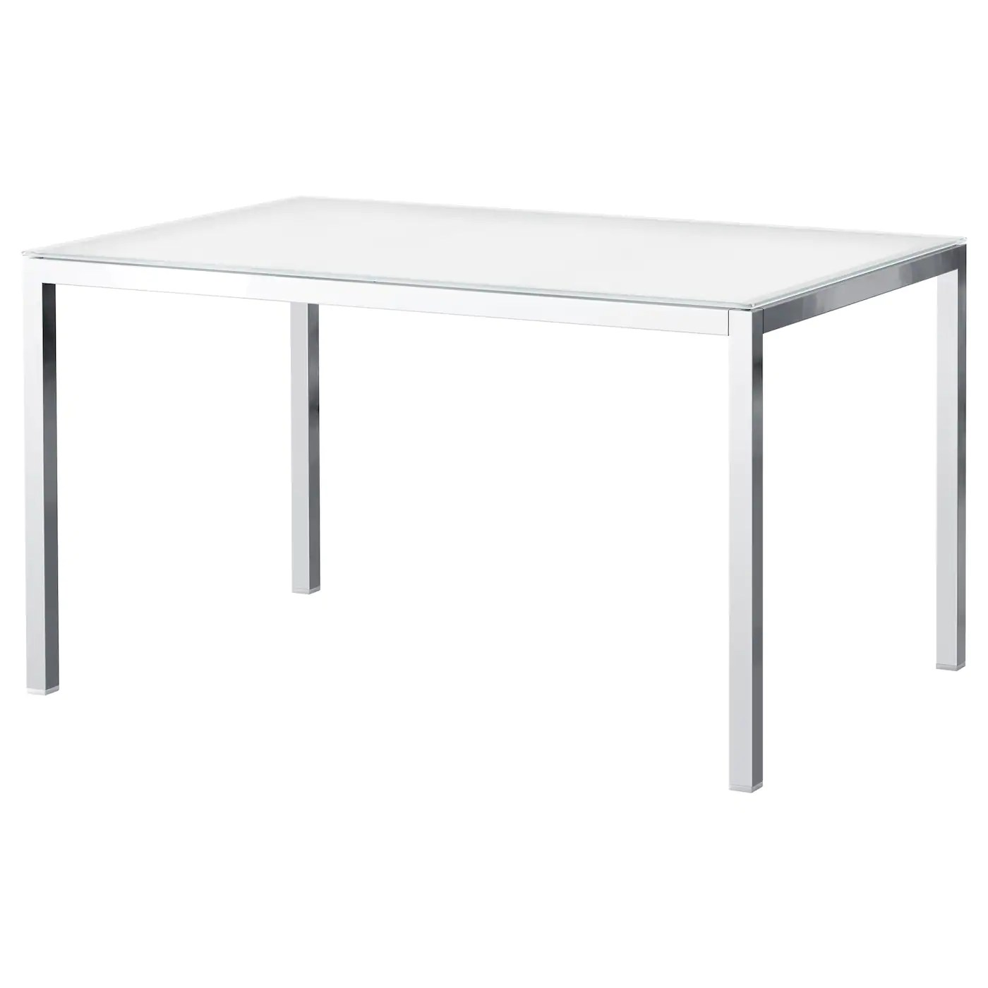 Table Ikea En Verre Torsby Table Chrome Plated Glass White