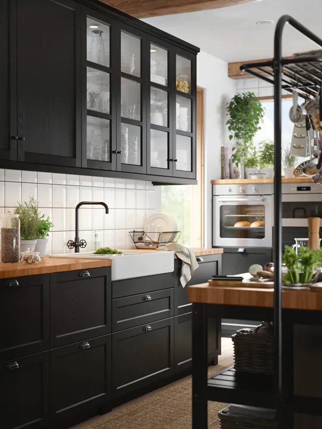 Cucina componibile LERHYTTAN mordente nero - IKEA IT