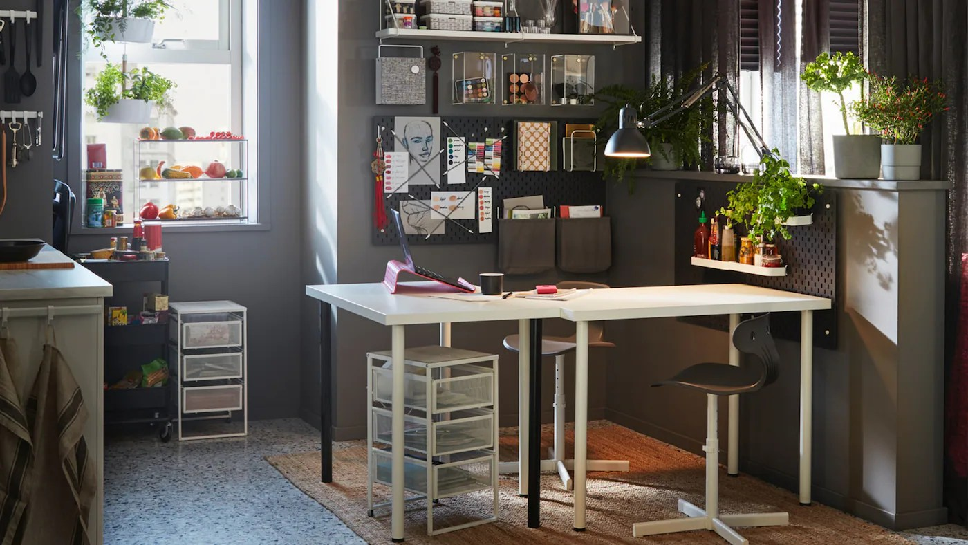 Ikea Home Filing System Office Chair Study Table Workspace Singapore Ikea