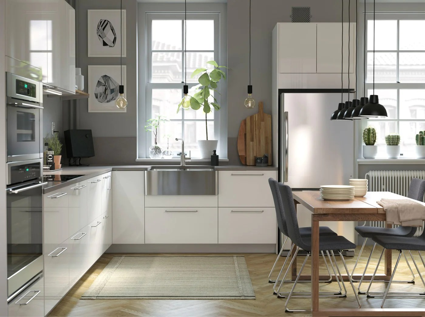 Küche Ikea Family A Modern Bright And Airy Kitchen With Wood Details Ikea