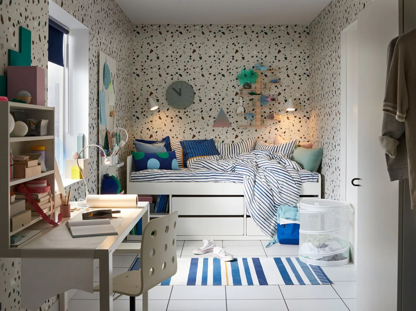 Wandregal Kinderzimmer Blau Cooles Kinderzimmer In Blau Gestalten Ikea