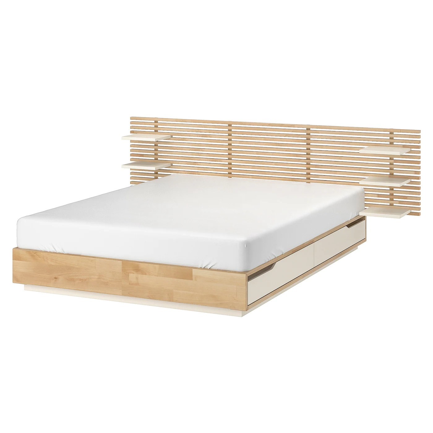 Ikea Mandal Frame Mandal Bed Frame With Headboard Birch White