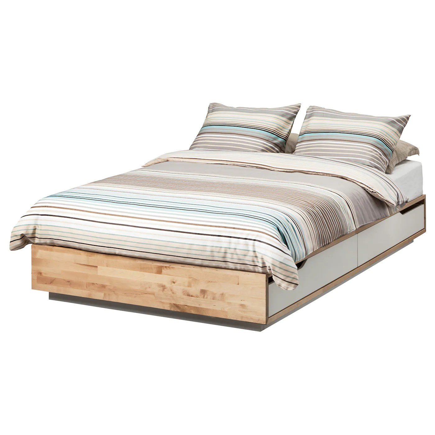 Ikea Mandal Frame Mandal Bed Frame With Storage Birch White