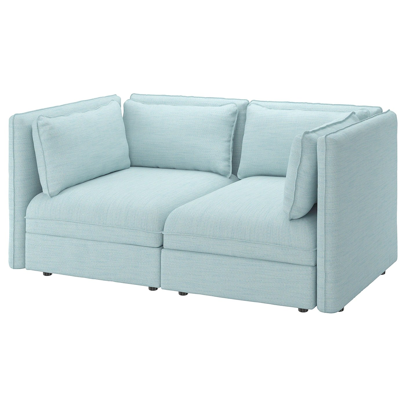 Sofa 2 Sitzer Ikea Vallentuna 2-seat Modular Sofa - Hillared Light Blue - Ikea