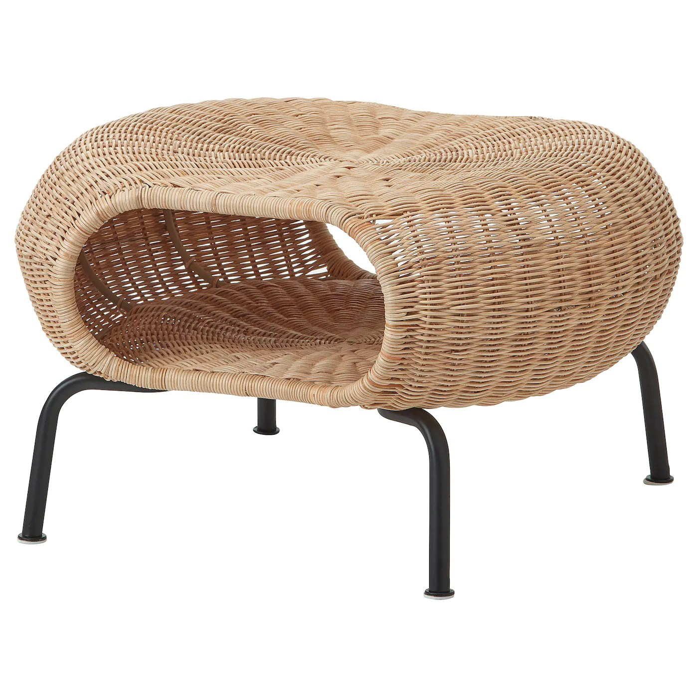 Rattan Ikea Gamlehult Footstool With Storage Rattan Anthracite