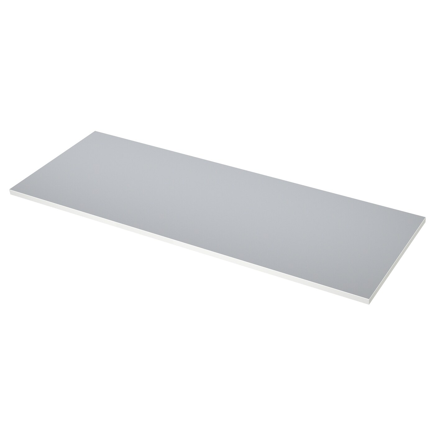 Ekbacken Worktop Double Sided Light Grey With White Edge Light Grey White Laminate White Ikea