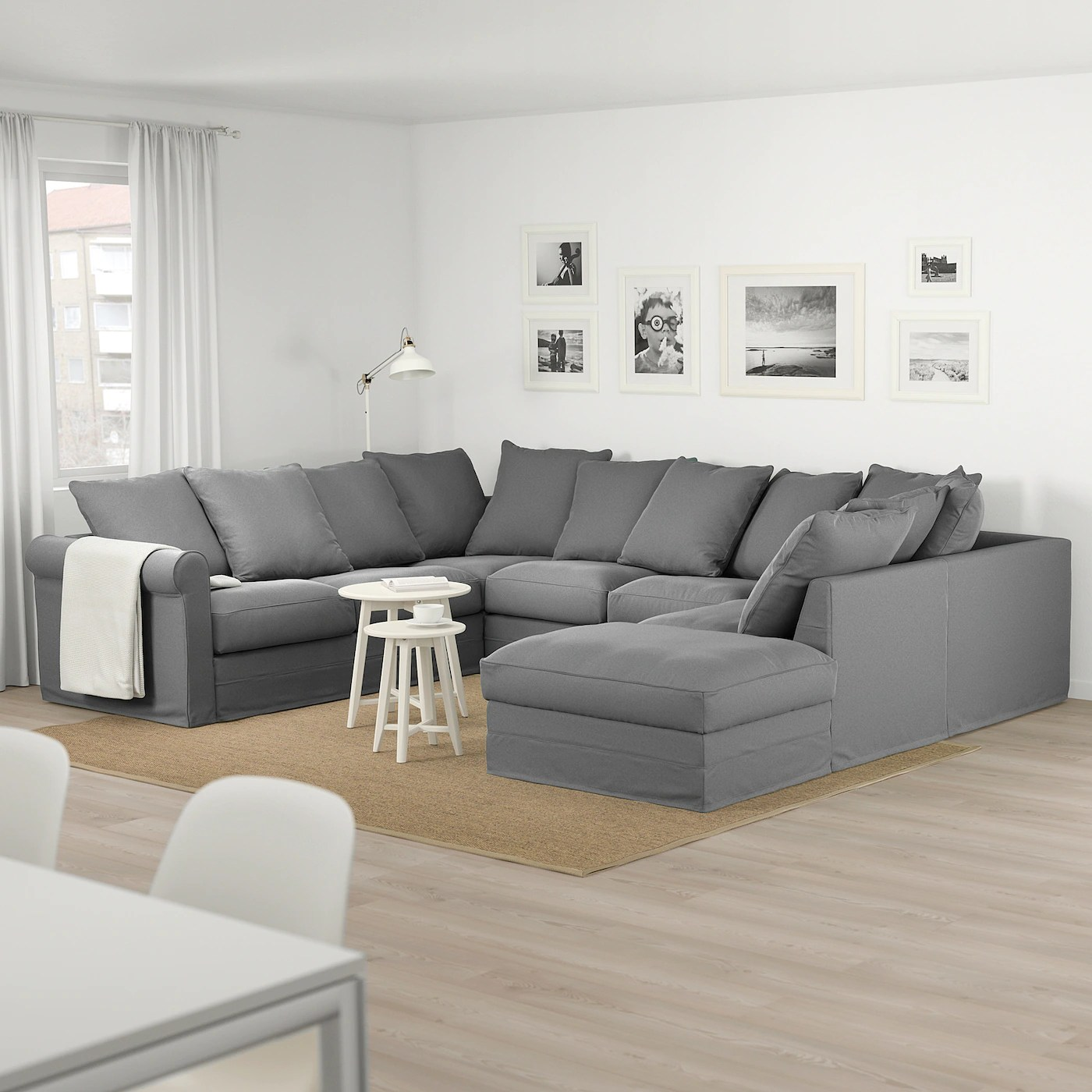 Couch U Form Grau GrÖnlid U-shaped Sofa, 6 Seat - With Open End/ljungen Medium Grey - Ikea