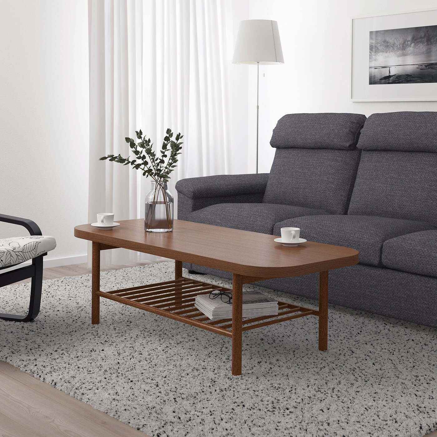 Listerby Coffee Table Brown 140x60 Cm Ikea