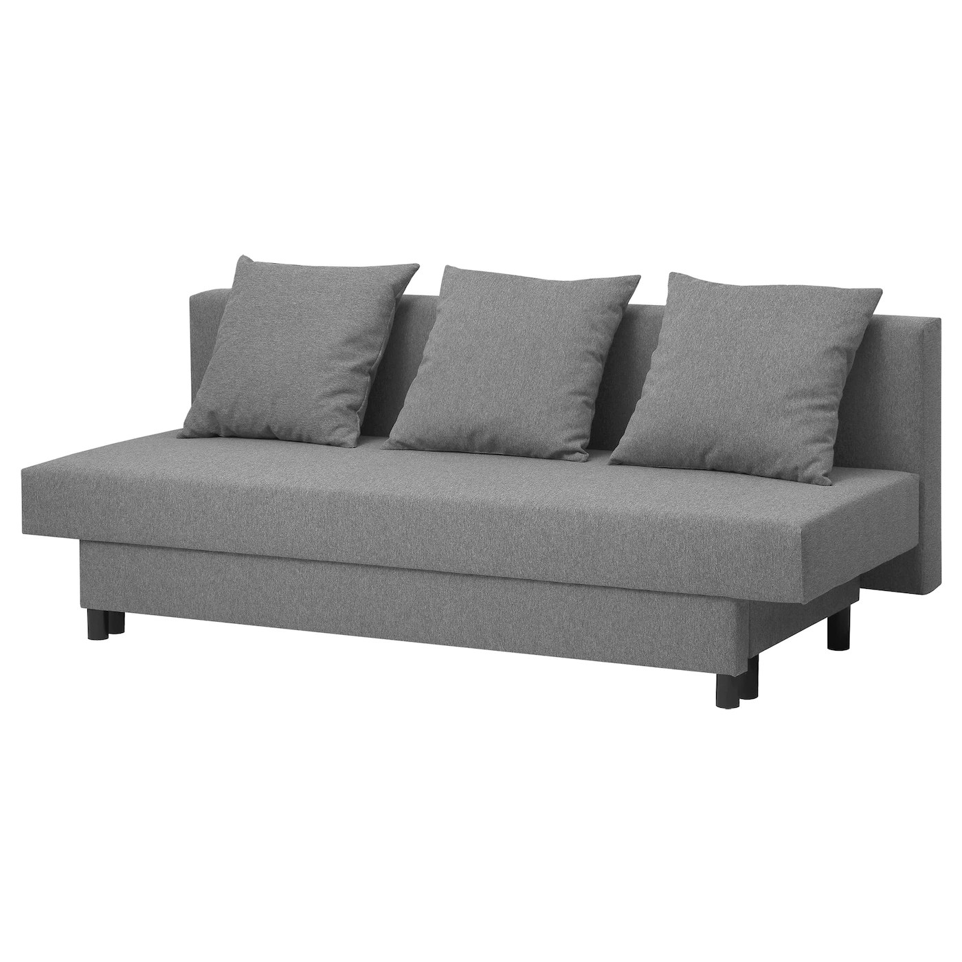 Ikea Bank Code Asarum Three Seat Sofa Bed Grey