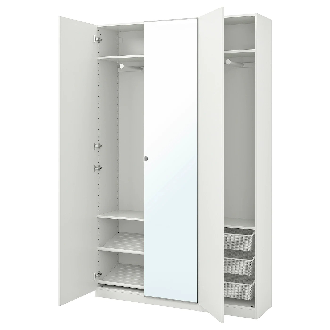 Ikea Pax Click And Collect Pax Wardrobe White Forsand Vikedal