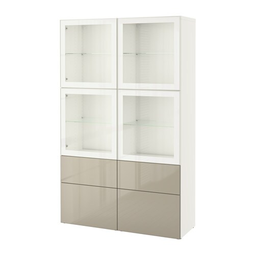 Besta Vitrinenschrank BestÅ Storage Combination W/glass Doors - White/selsviken