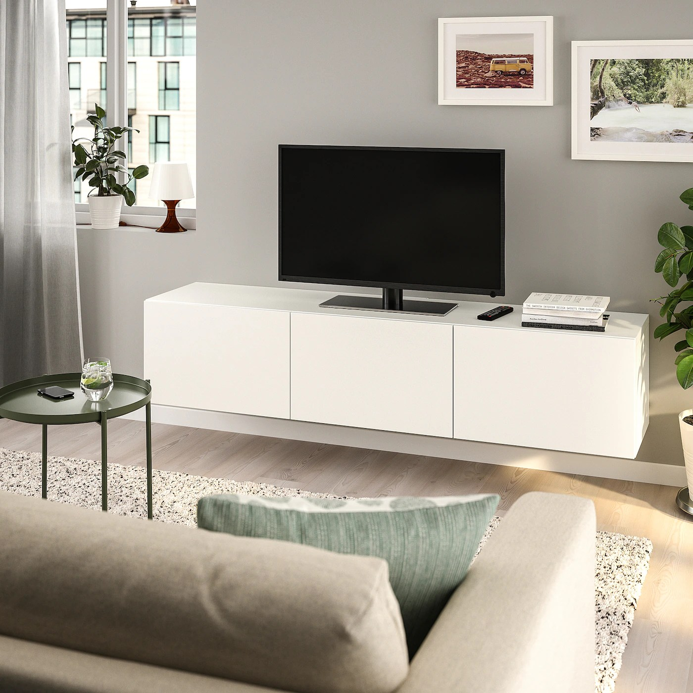 Ikea White Tv Unit Ebay