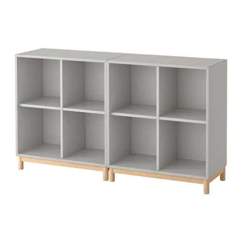 Eket Storage Combination With Legs Light Gray Ikea