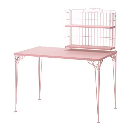 Bureau Rose Ikea FalkhÖjden Desk With Add-on Unit - Pink - Ikea