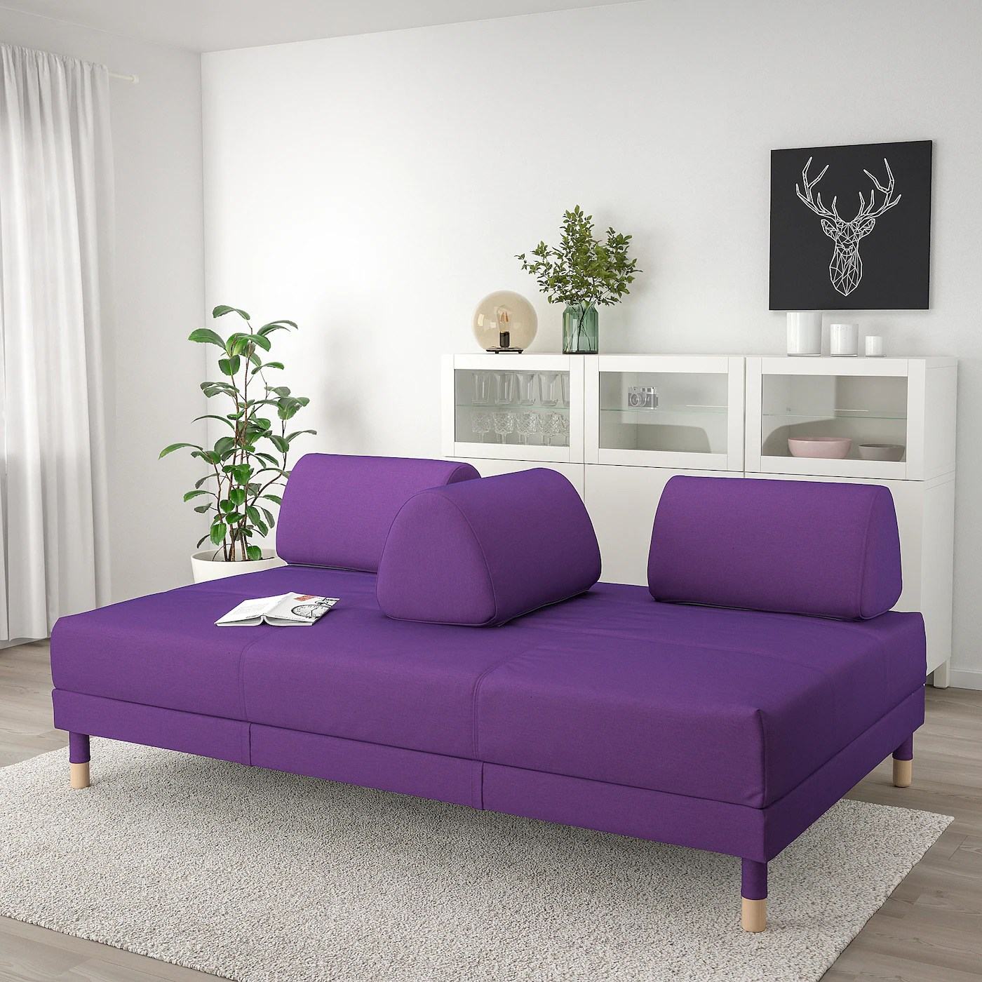 Flottebo Sleeper Sofa Vissle Purple 47 1 4