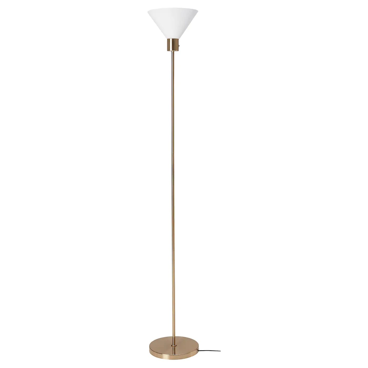 Flugbo Floor Uplight With Led Bulb Brass Color Glass Ikea