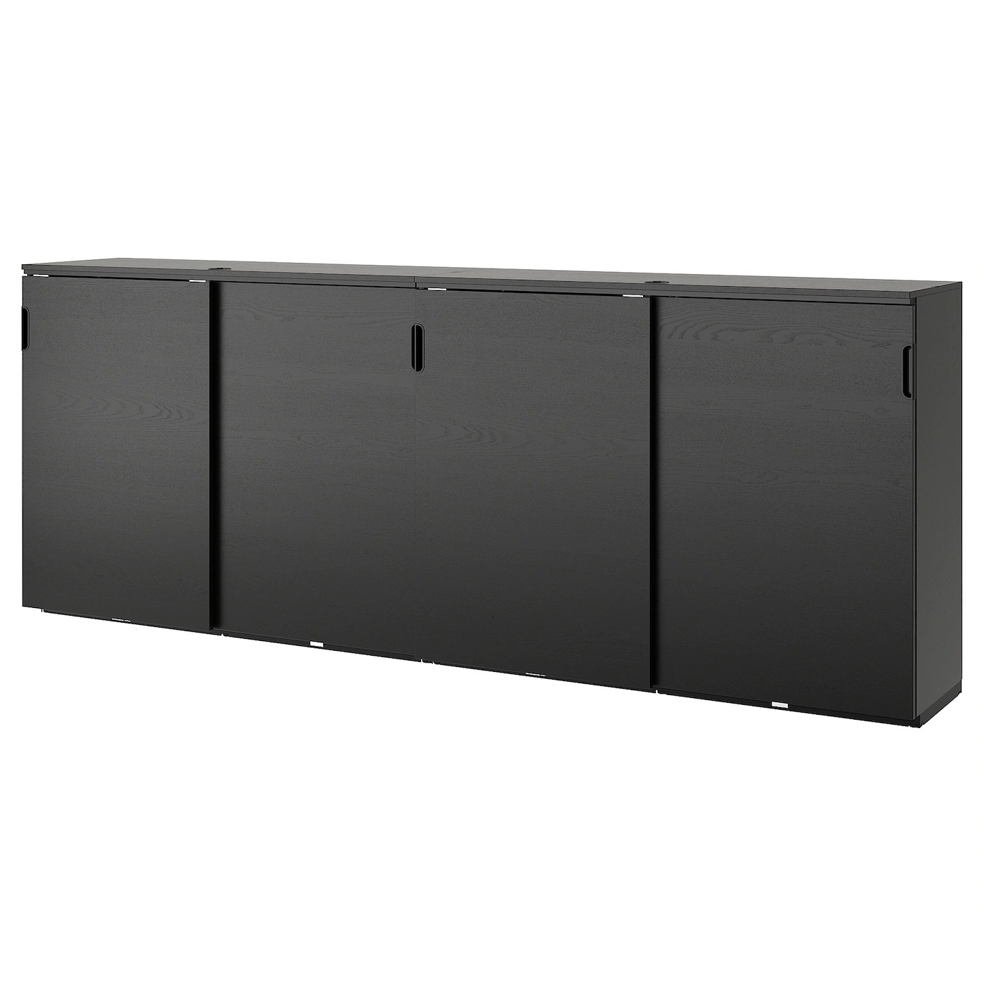 Ikea Galant Bureau Galant Storage Combination W Sliding Doors Black Stained Ash Veneer