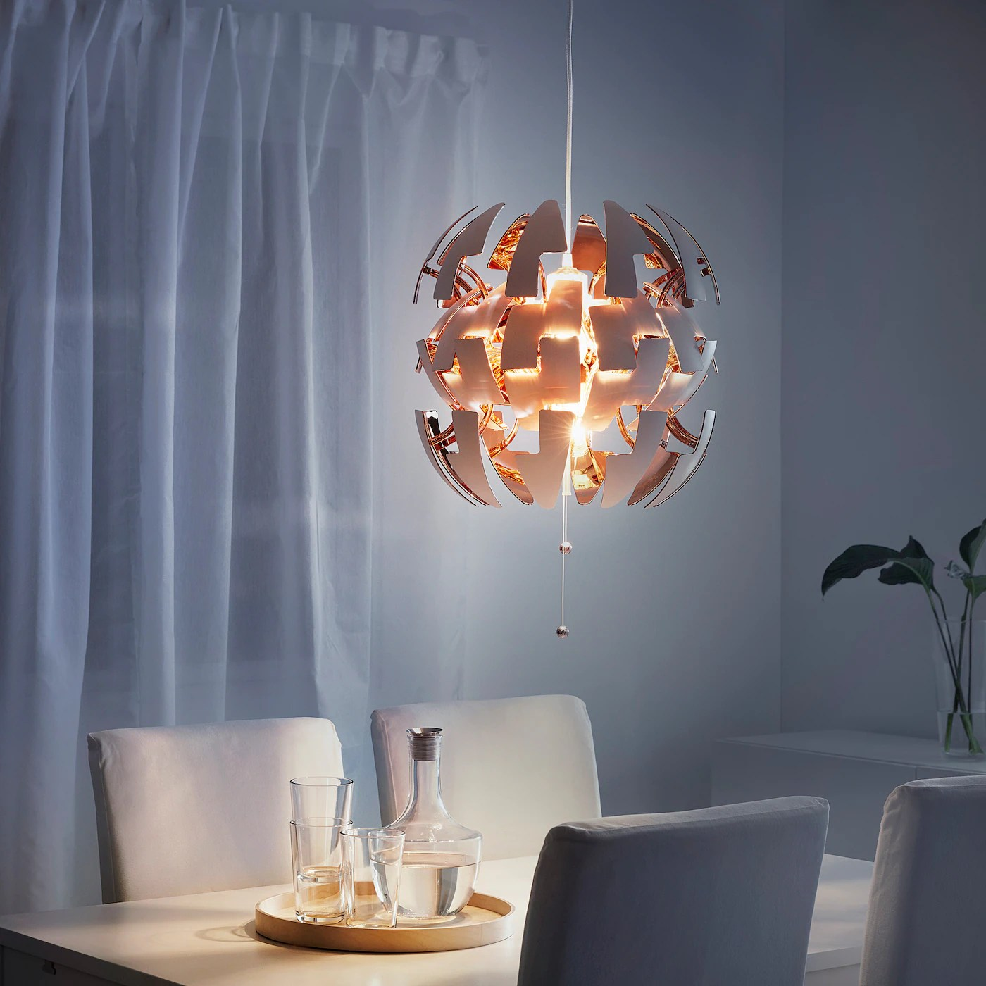 Ikea Ps 2014 Pendant Lamp White Copper Color 14