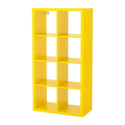 Ikea Kasten Living Kallax Shelf Unit - Yellow - Ikea