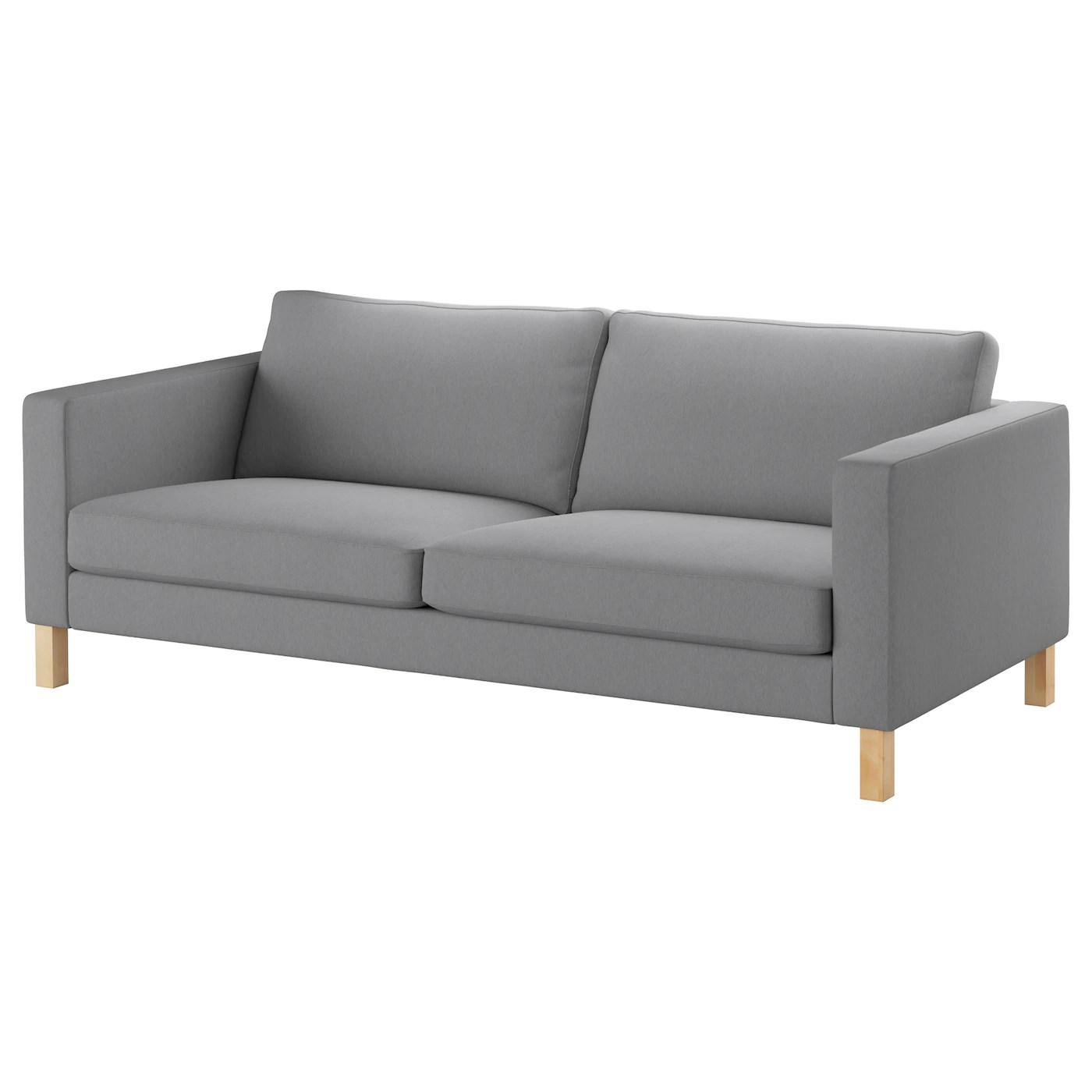 Karlstad Sofa Knisa Light Gray Ikea